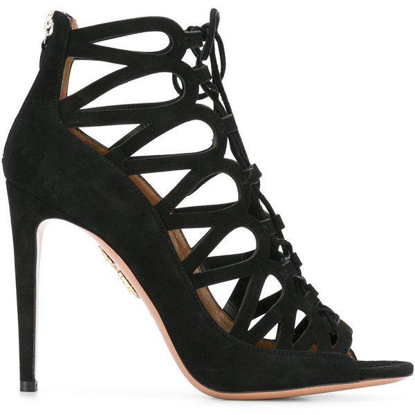 Aquazzura Lace Me Up Caged Sandals discount 100% authentic cheap sale latest hot sale sale online uug6V4Fze