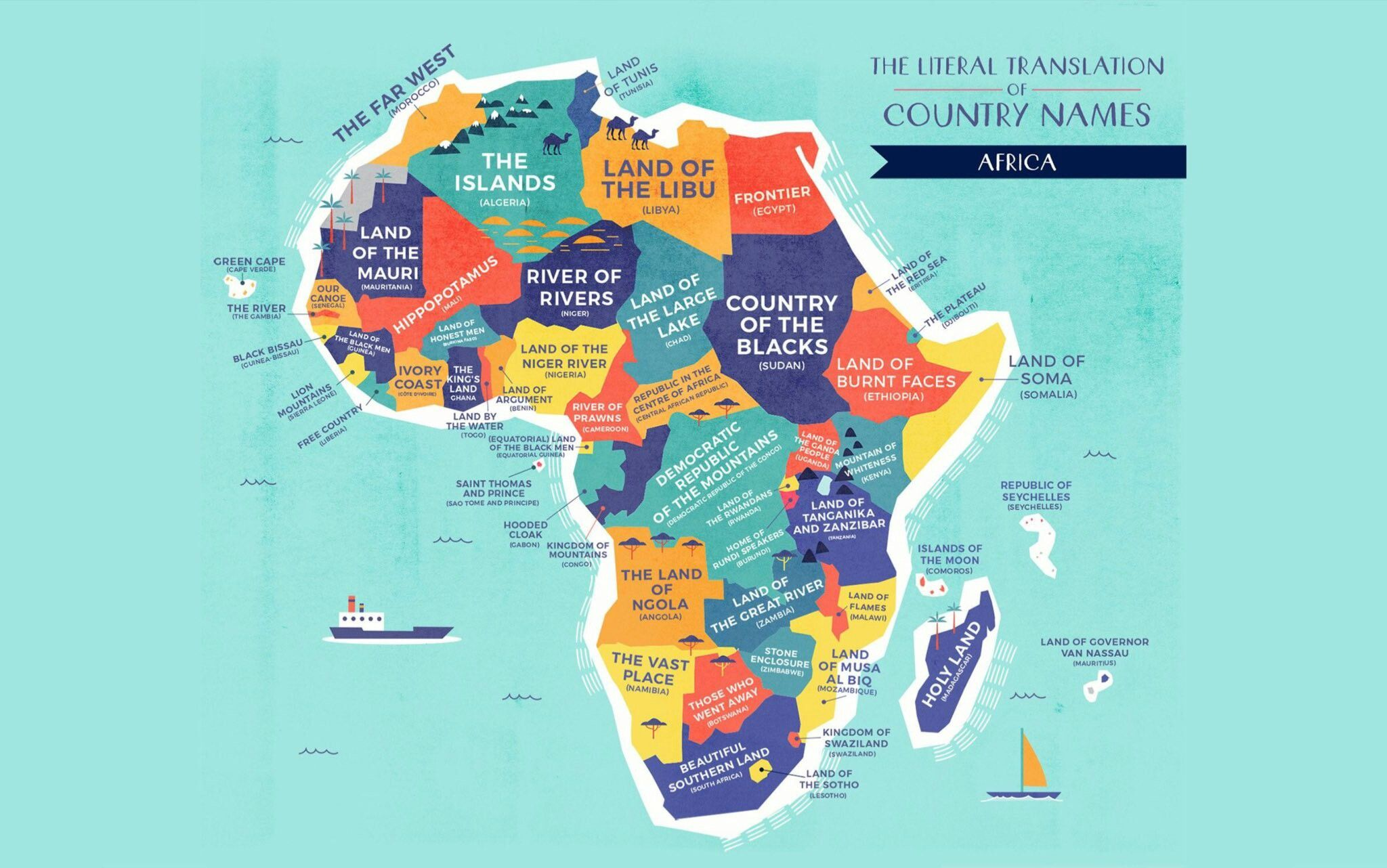 Africa Map With All Countries Names.African Countries And Their Meanings Country Names Africa