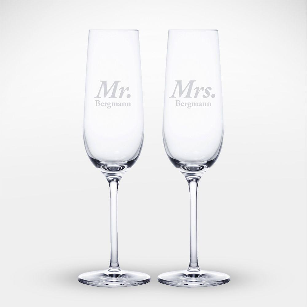 2er Set Sektglas Mr Mrs Personalisiert In 2020 Sektglaser Mit Gravur Gravur Diamantene Hochzeit