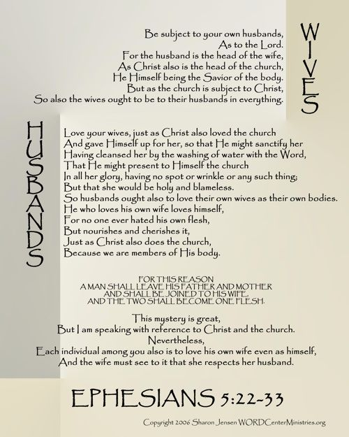 Ephesians 5:22-33 print out for 8x10, 16x20, 11x14