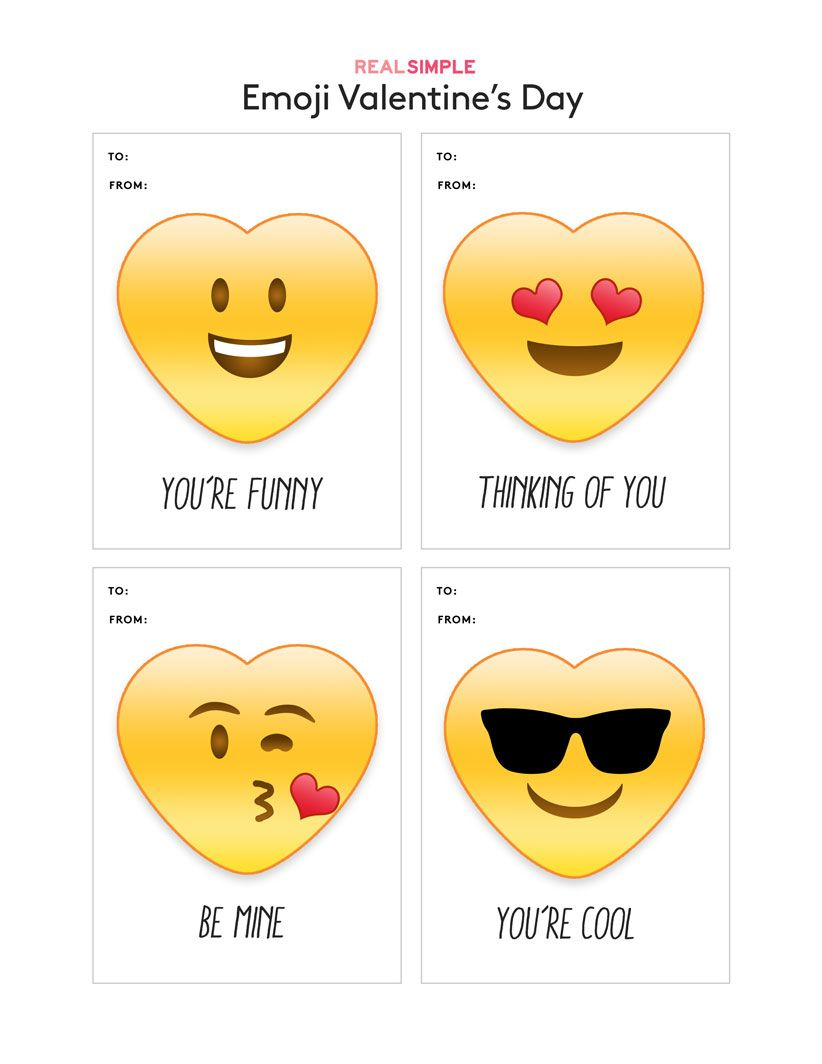 Printable Valentine S Day Cards Emoji Valentines Valentine Card Template Printable Valentines Day Cards