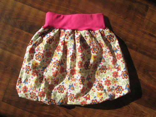 ca10d6be3e8 Balonová sukně - střih + fotonávod