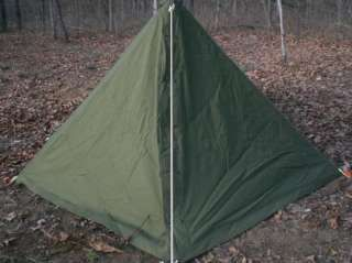 Complete Shelter Half Tent 2 Man Pup US Military USGI Surplus OD & Complete Shelter Half Tent 2 Man Pup US Military USGI Surplus OD ...