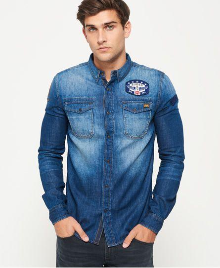 Superdry DRAGWAY - Camisa informal - blue denim TqSxa