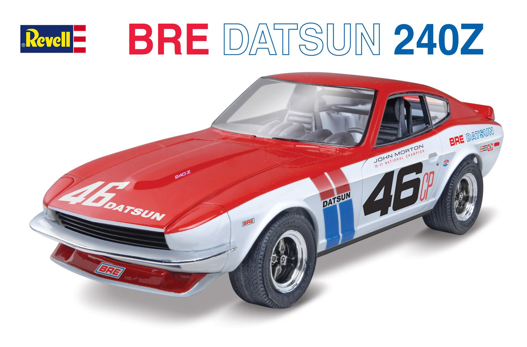 bre datsun 240z plastic model kit from revell kit features a
