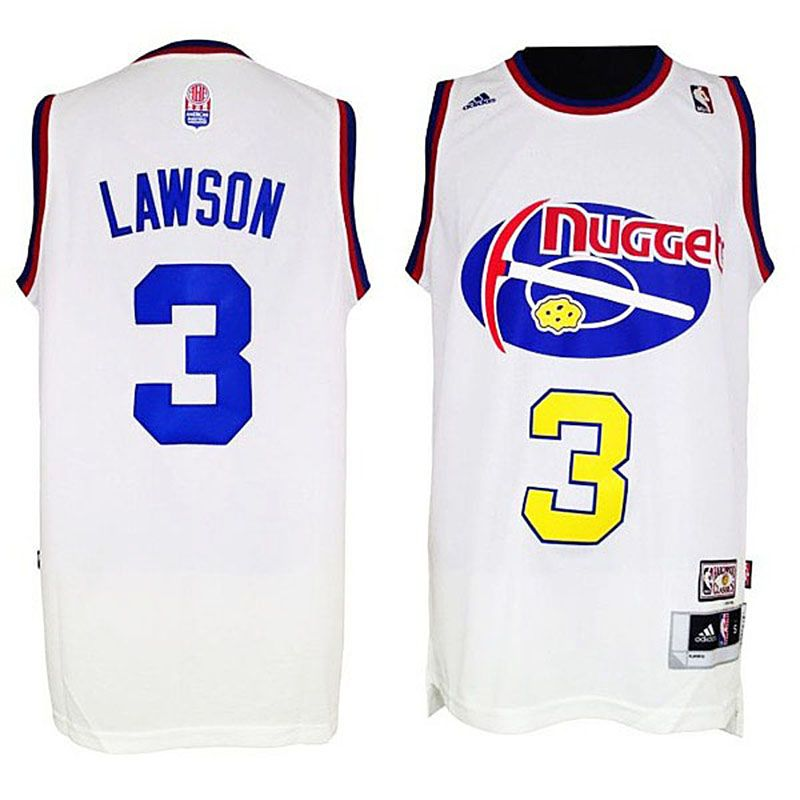 denver nuggets 3 ty lawson aba jersey