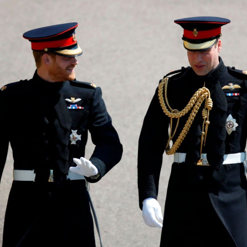 Resplendent in traditional Blues and Royals how Prince