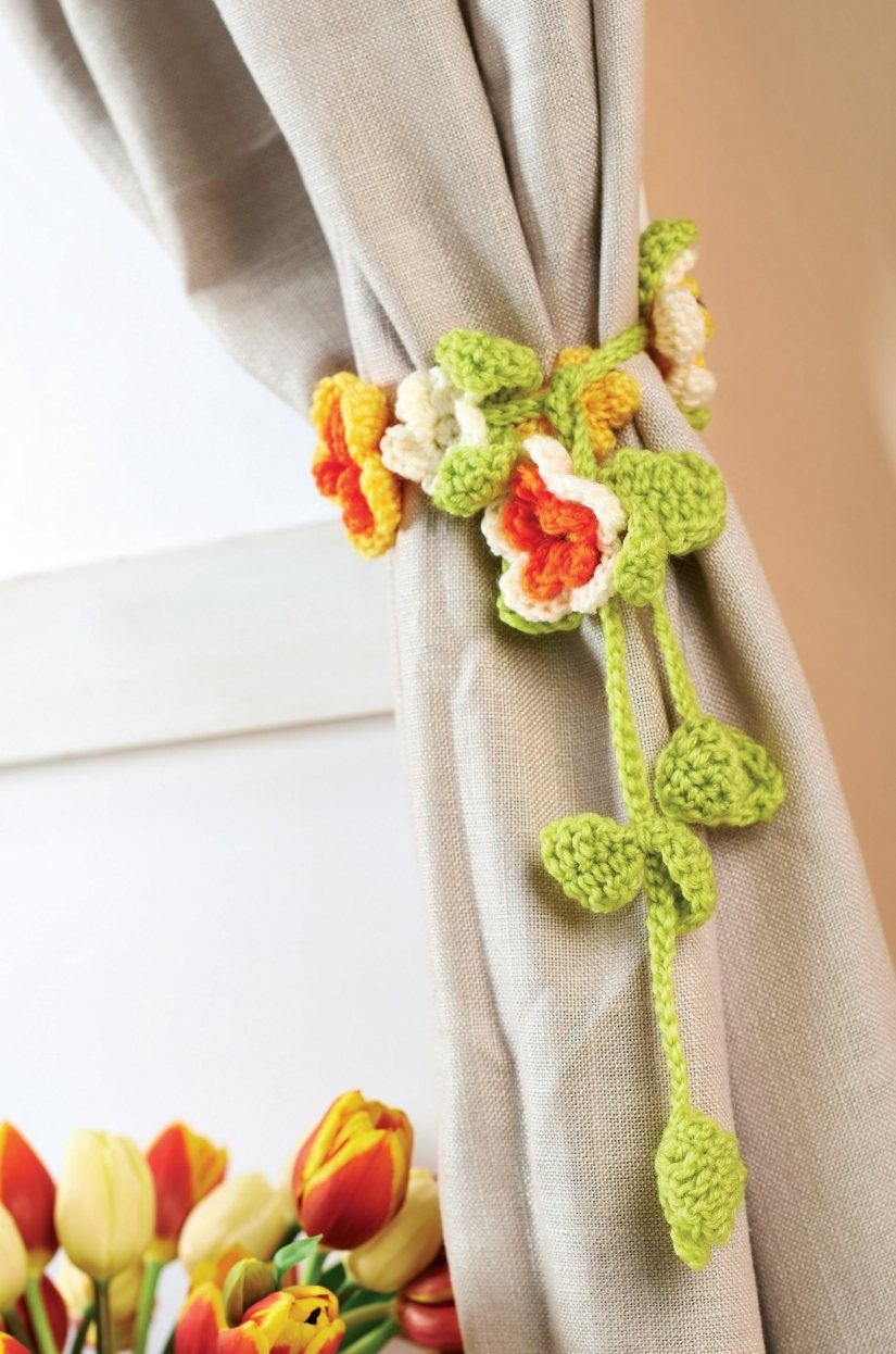 FREE PATTERN: Crochet curtain tie-backs | tejido | Pinterest ...