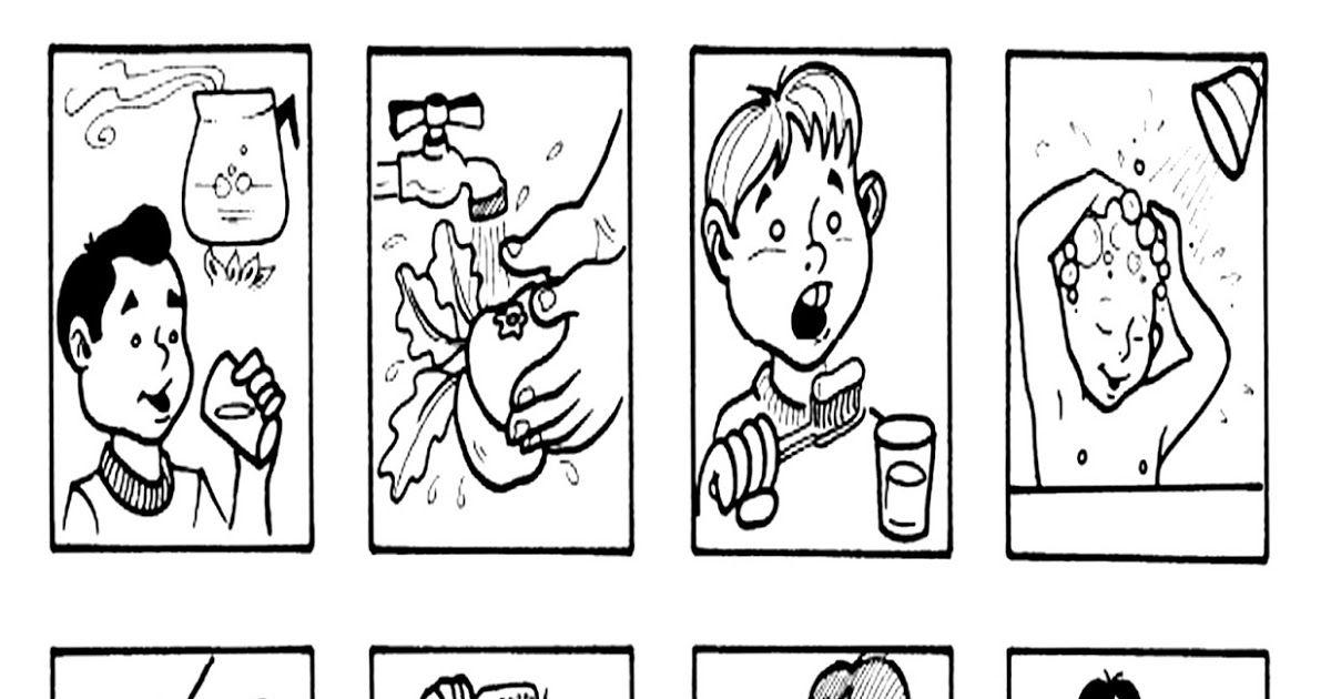 pinto dibujos medidas de higiene para colorear higiene para ni 241 ...