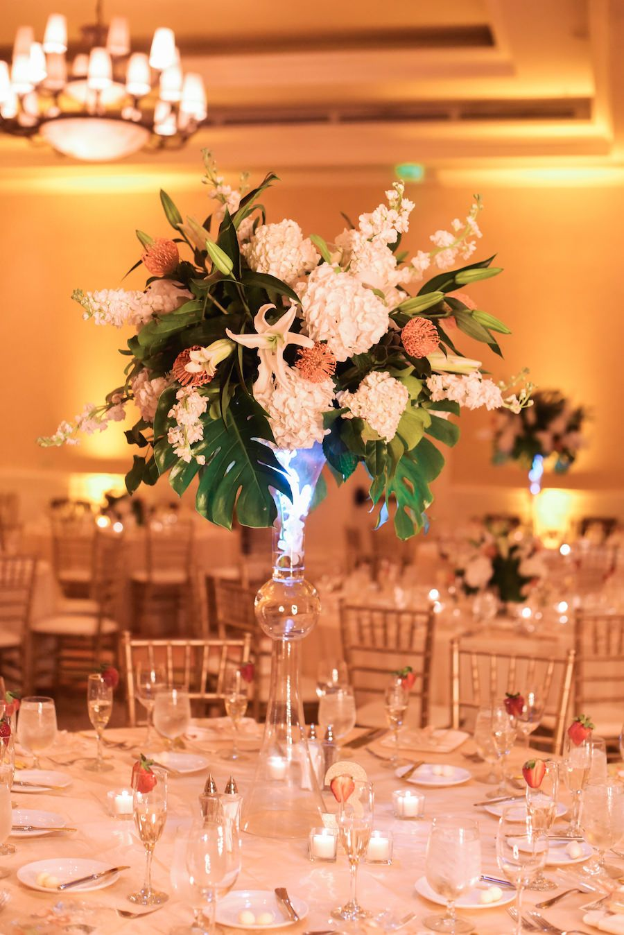 Elegant Coral And Gold Clearwater Beach Wedding Beach Wedding