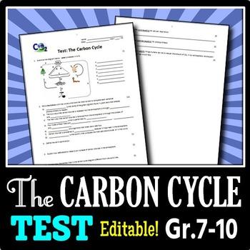 The Carbon Cycle Test Editable 6 G Unit Pinterest Carbon