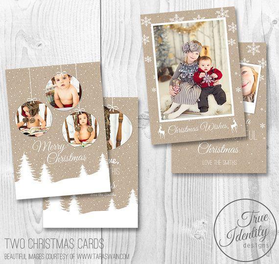 Christmas Photo Card Template Bundle Christmas Cards Photographers Photography M Christmas Photo Card Template Holiday Card Template Christmas Photo Cards