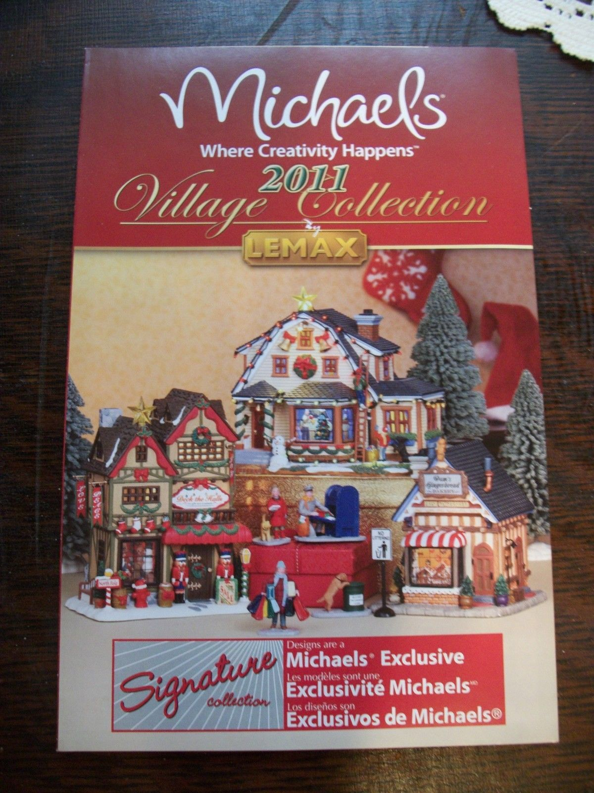 Lemax Michaels Christmas Village 2011 Product Brochure Catalog ...