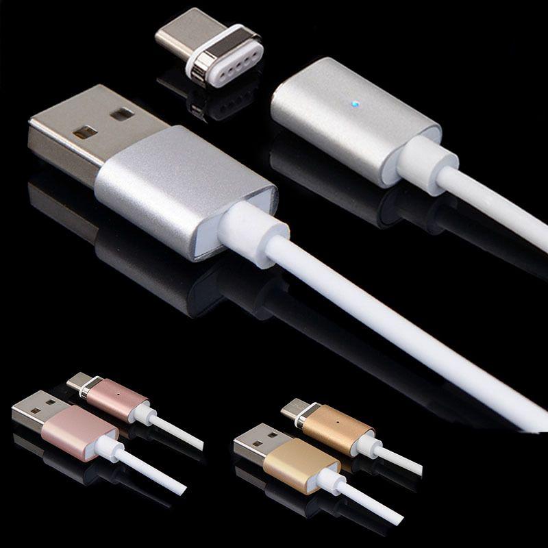Magnético tipo C USB carregador rápido carregamento fio cabo para Android