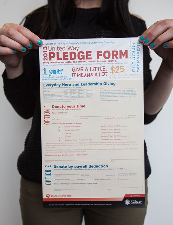 creative design for pledge form non profit design Pinterest - pledge form