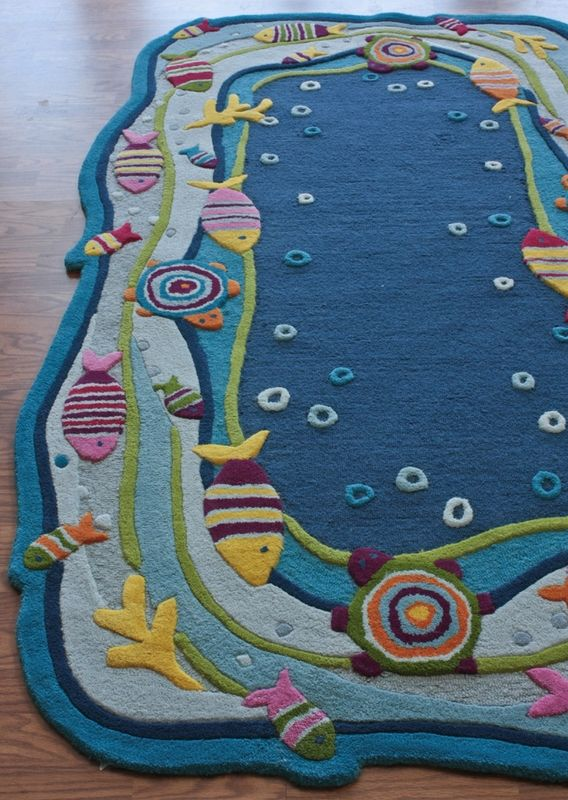 Very Cool Ocean Rug... Awesome For A Niece Or Nephewu0027s Room!
