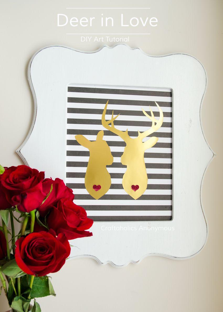 Adorable Deer Couple Art