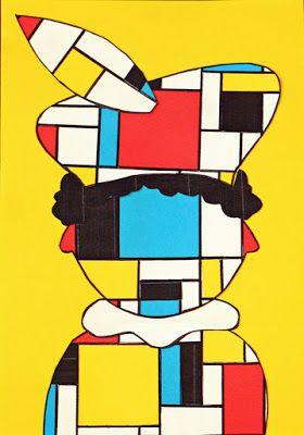 Sinterklaasknutsel Piet Mondriaan #zwartepietknutselen