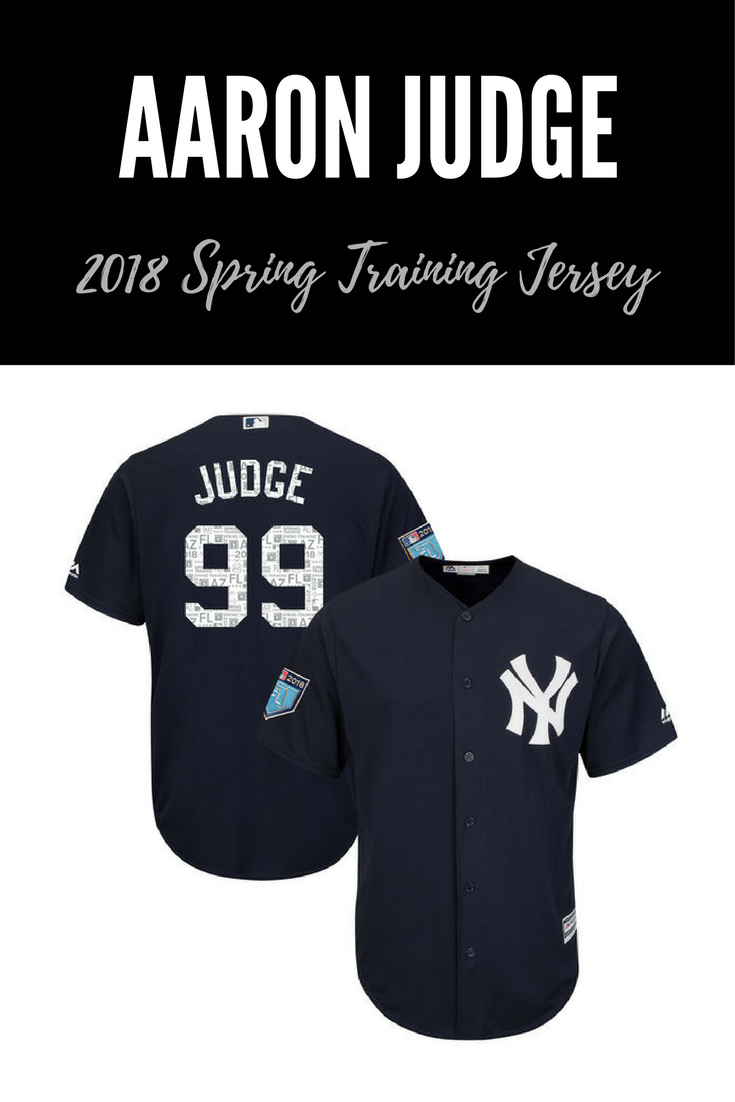 Men s New York Yankees Aaron Judge Majestic Navy 2018 Spring Training Cool  Base Player Jersey 014151294b3