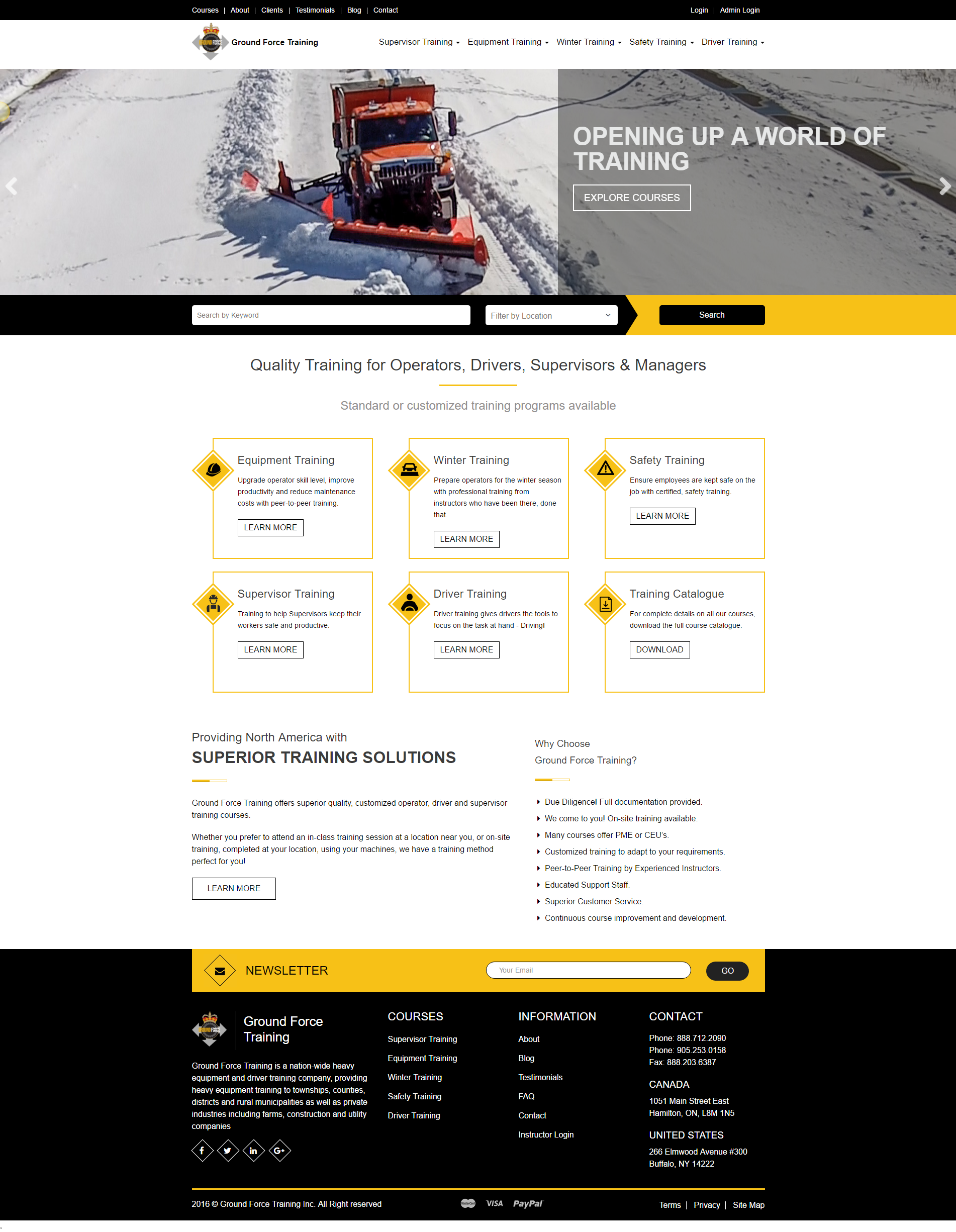 The Webilize Team Developed A Custom Net Website For Ground Force Training Www Groundforcetraining Com Gr Web Design App Development Software Psd Web Design