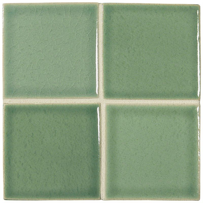"Complete Tile Collection McIntones Ceramics, Sage 3"" x 3""  Field Tile, MI#: 148-C1-314-030, Color: Sage"