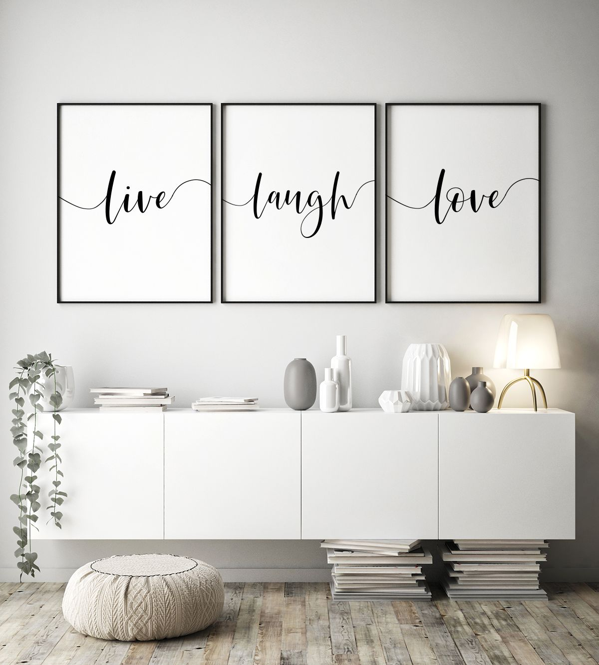 Live Laugh Love Printable Posters Set Of 3 Live Laugh Love Etsy Large Wall Decor Living Room Living Room Quotes Wall Art Living Room
