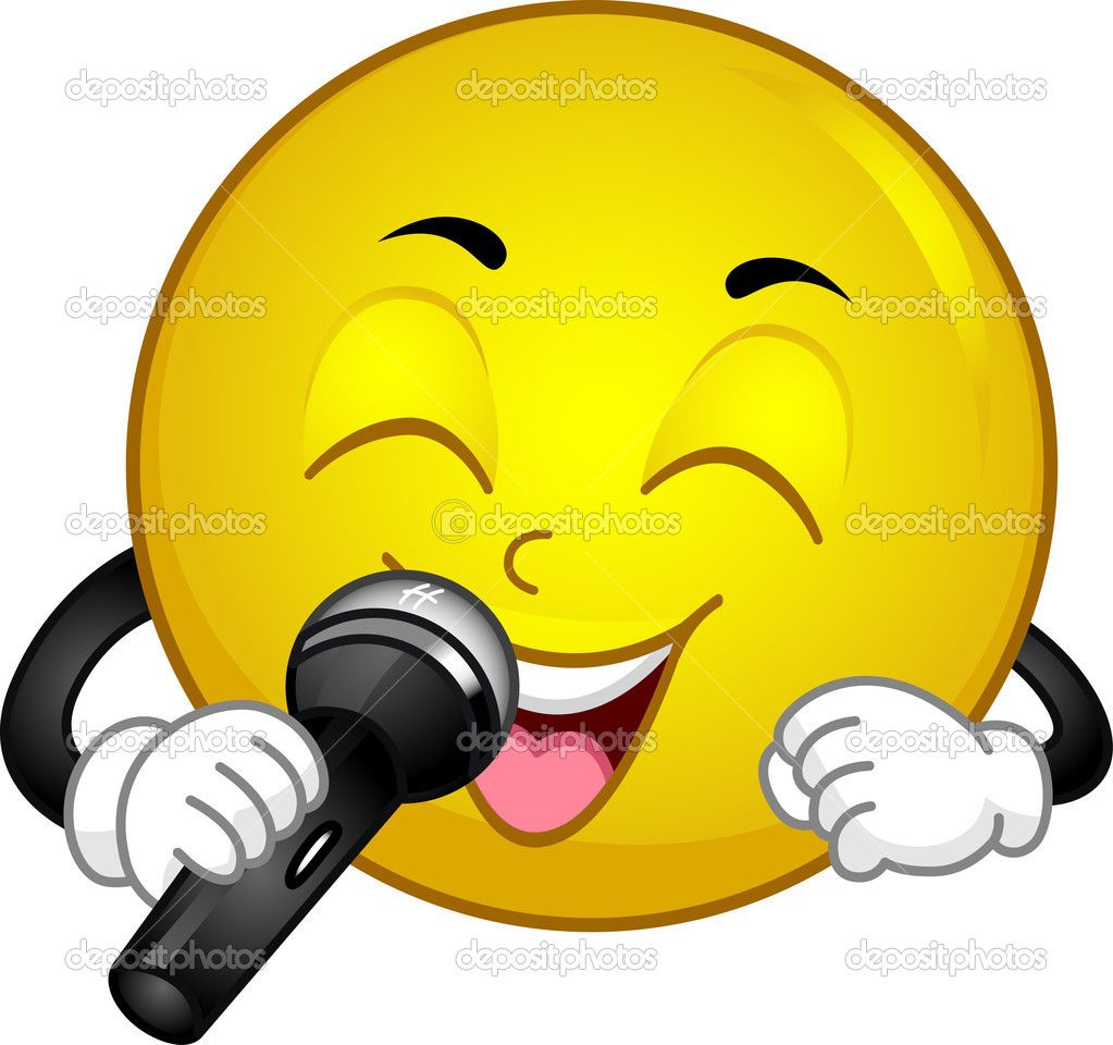 Singing Smiley — Stock Photo © lenmdp # | Smileys | Funny