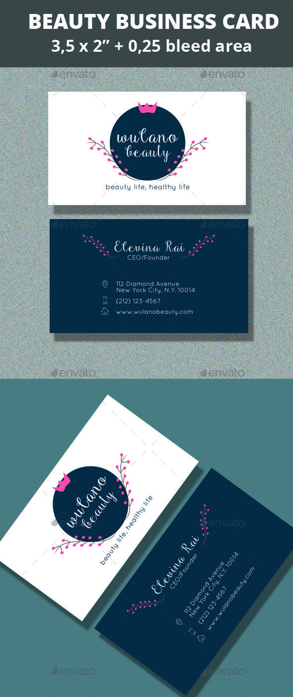 Beauty Business Card Templates Gallery - Templates Example Free ...