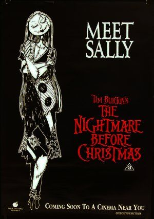 Poster For The Nightmare Before Christmas Nightmare Before Christmas Nightmare Before Christmas Movie Sally Nightmare Before Christmas
