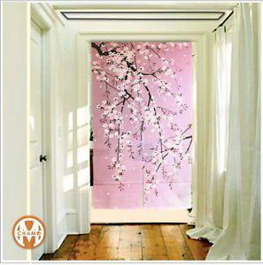 CHERRY BLOSSOM STREAM   Noren Curtains: Made In Japan   EBay