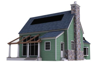 Green Cottage Kits Sinda We Offer Panels In Varying Thicknesses If You Order 4 5 8 Walls With 8 3 8 Roof Panels Cottage Kits Prefab Cottages Cottage Plan