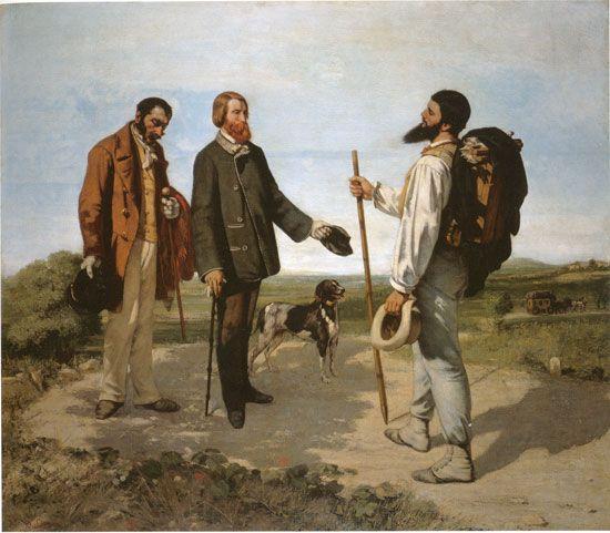Gustave Courbet (1819-1877) [Le rencontre, dit: Bonjour, monsieur Courbet]