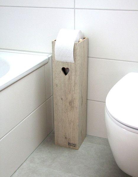 Individueller Klopapierhalter Aus Holz Mit Kleinem Ausgefrästen Herz /  Wooden Toilet Paper Box, Bathroom Made By Klaus Heilmann Via DaWanda.com |  Дача ...