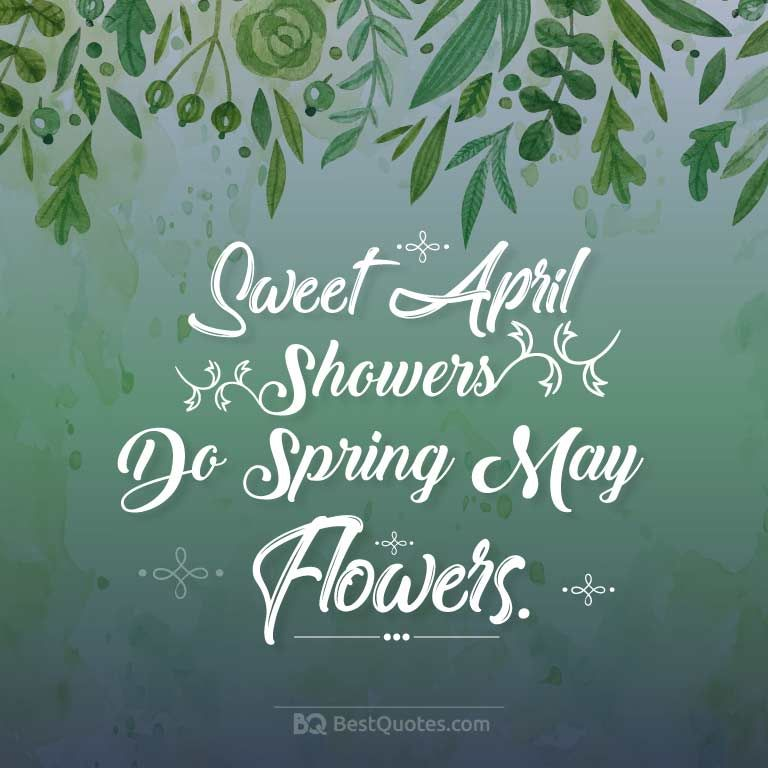 Sweet April Showers Do Spring May Flowers With Images May