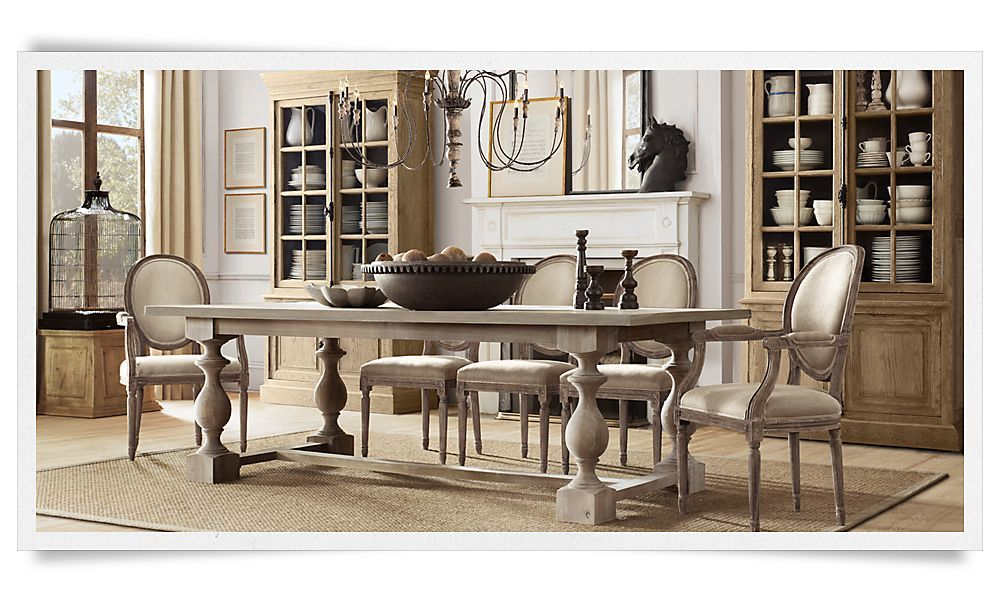 Restoration Hardware Dining Room. Love The Table!