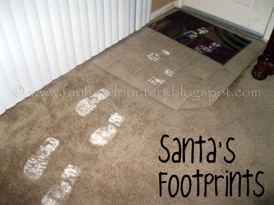 Xmas Festive Magic Santa Footprints Stencil 2 pieces Magical Christmas Morning