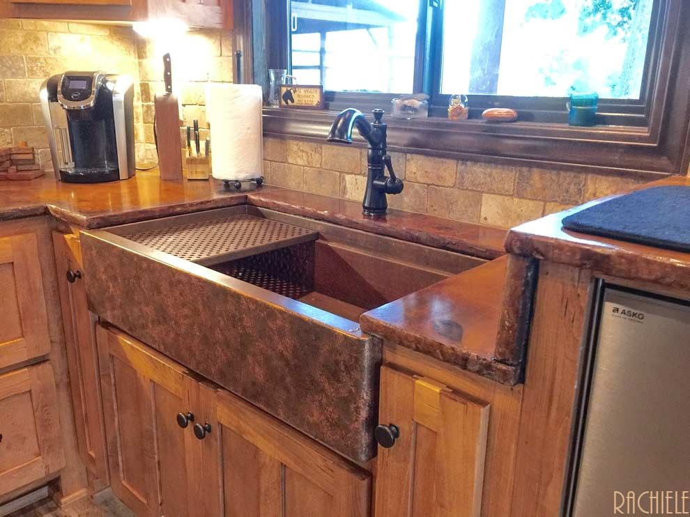 32 Maintain And Decorate The Copper Farmhouse Sink Farmhouse Sink Copper Farmhouse Sinks Sink