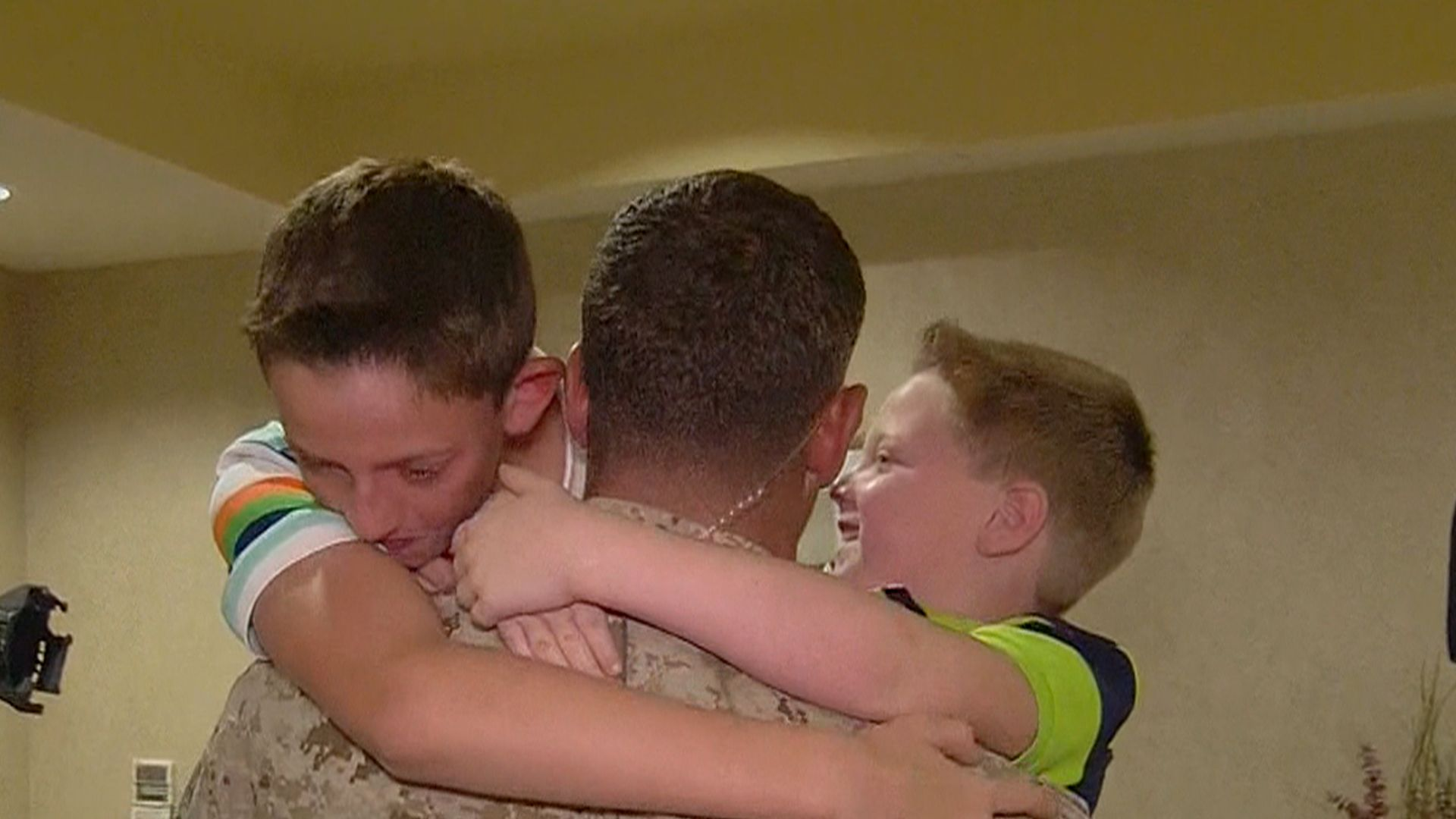 I ll never for it Marine surprises sons with Father s Day