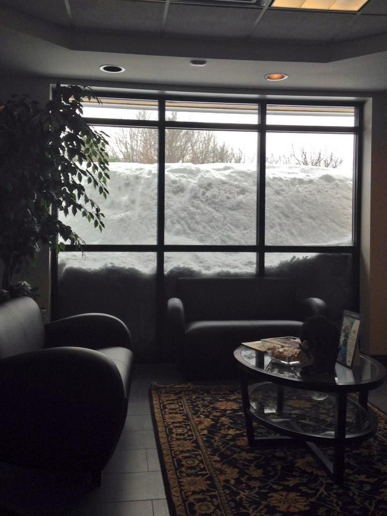 6 Foot Snowbanks Outside Our Office Lobby Window What A Winter Here In Amesbury MA BOSnow