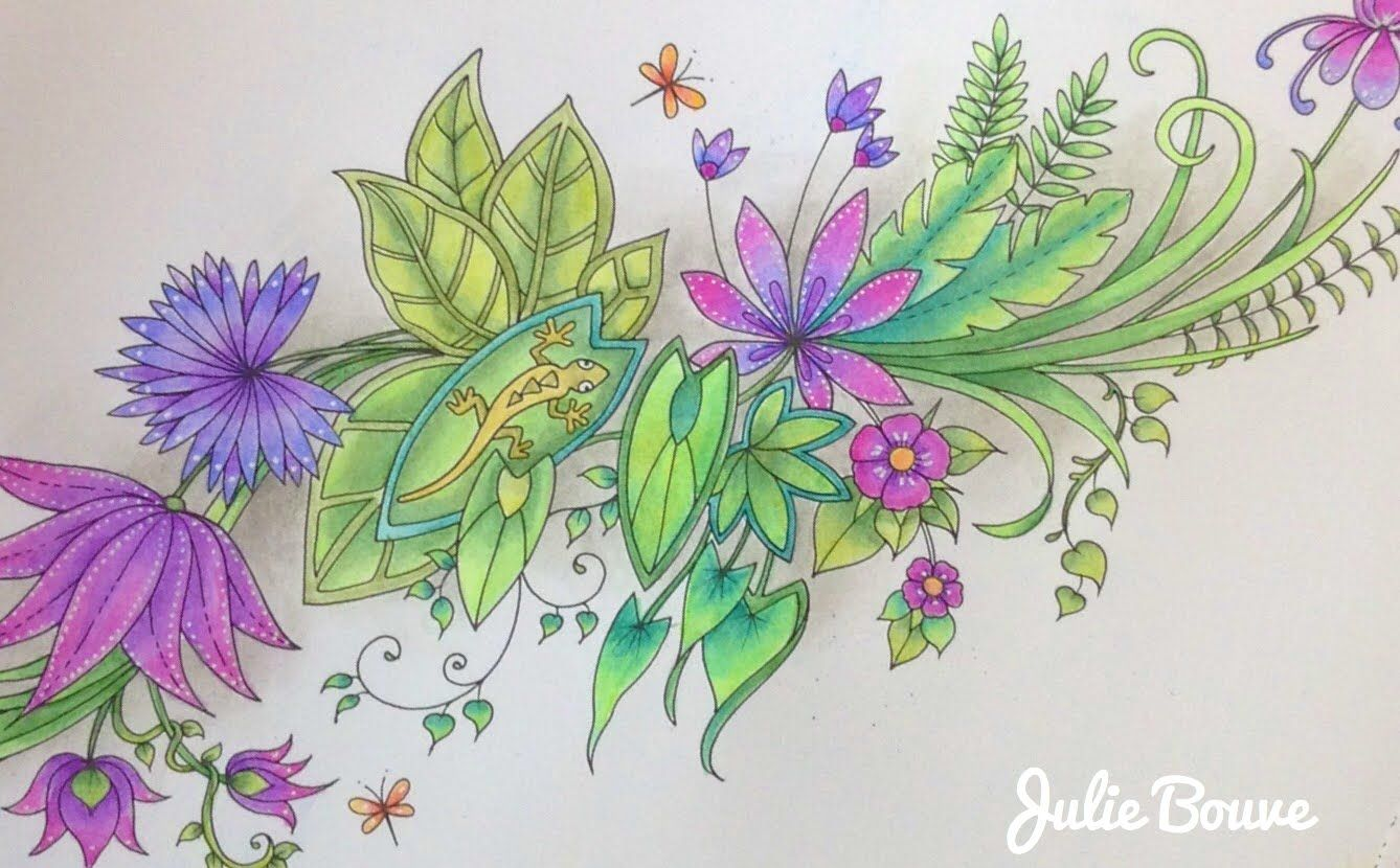 MAGICAL JUNGLE Johanna Basford - coloring with faber castell ...