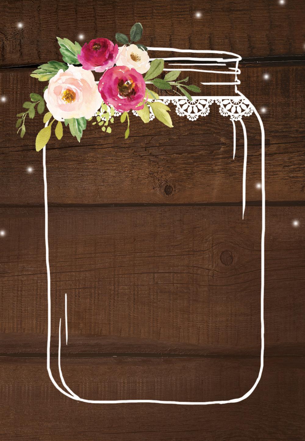 Jar of love - Wedding Invitation Template (free) | Greetings Island
