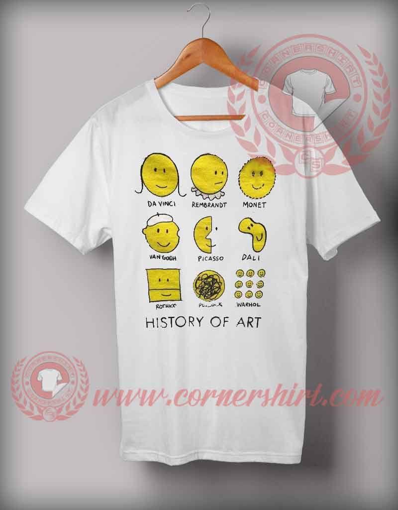 abc73e39 History Of Art Emoji T shirt   Logo T shirts   Shirt sale, Shirts, T ...