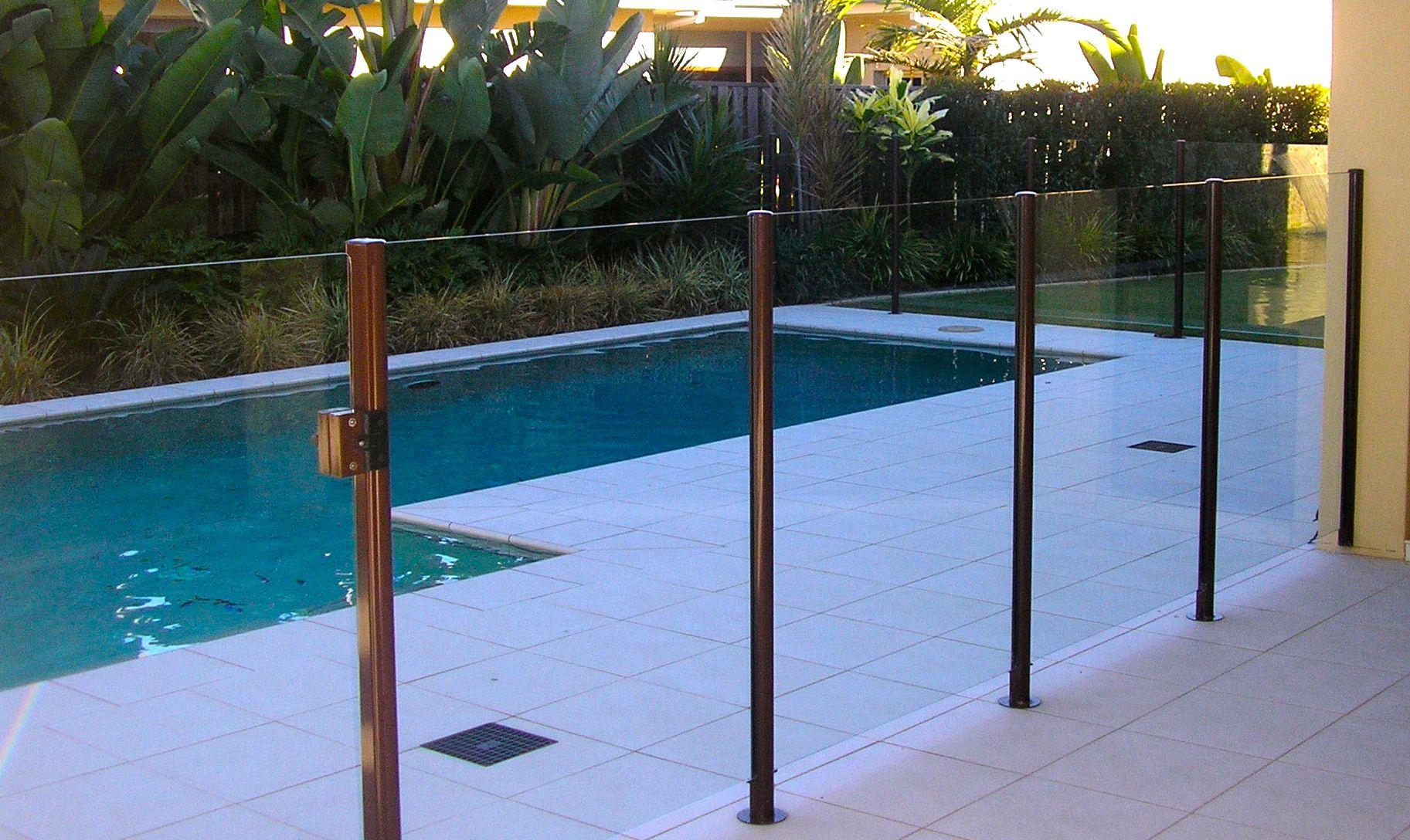 Semiframeless Glass Pool Fencing Stainless Steel Railing Glass Pool Fencing Pool Fence