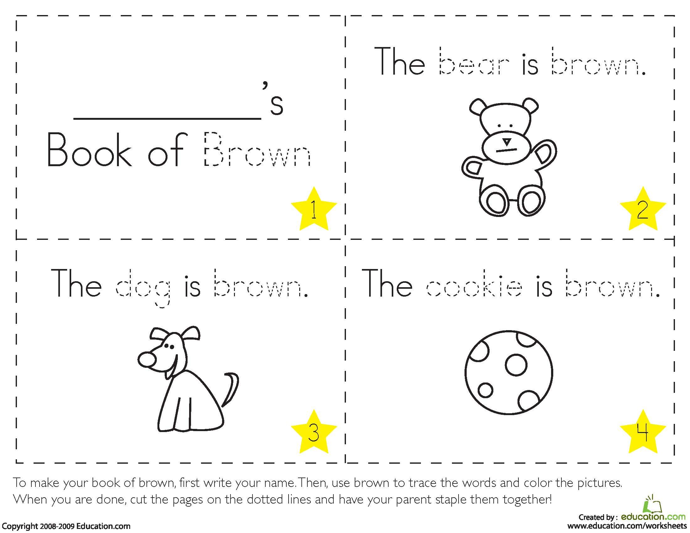 worksheet Color Brown Worksheets teaching colors brown home schooling pinterest brown