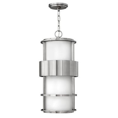 Hinkley lighting 1902ss gu24 1 light outdoor small pendant with fluorescent lamp
