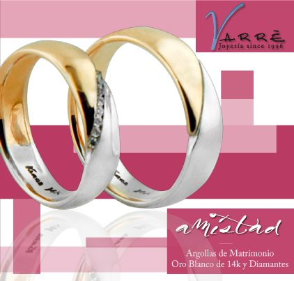 El Arte de Ammar / Agosto... ♥♥♥ Argollas de Matrimonio Oro Blanco de 14k & Diamante / Churumbelas Platino & Diamante /Joyería / Anillo de Compromiso Platino & Diamante #joyería #elartedeammar