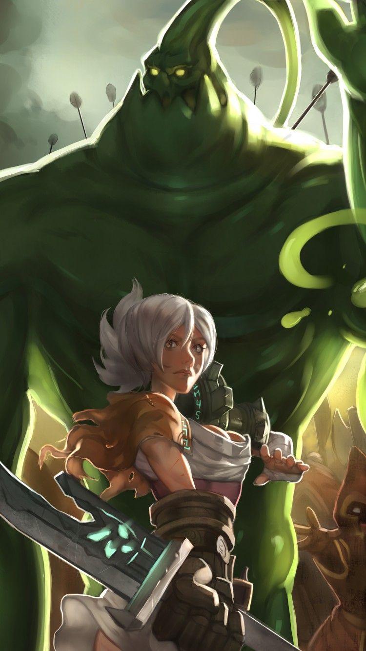 Watch More Like Lol Riven 1200 Lol League Of Legends Girls Cartoon Art Champions League Of Legends