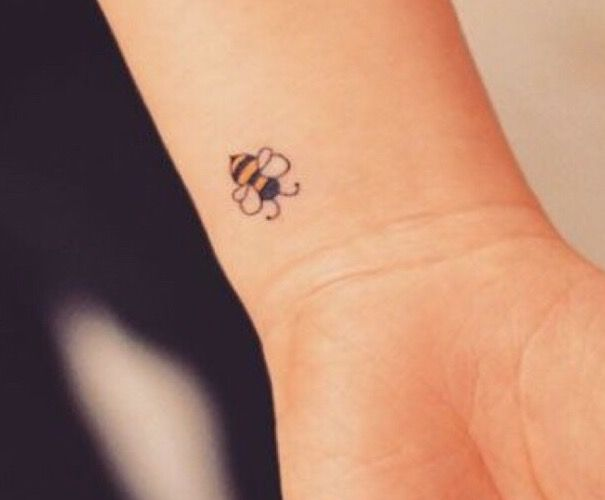 Pin By Beeutifully Bee On Ink Me Bee Tattoo Small Bee Tattoo Bumble Bee Tattoo