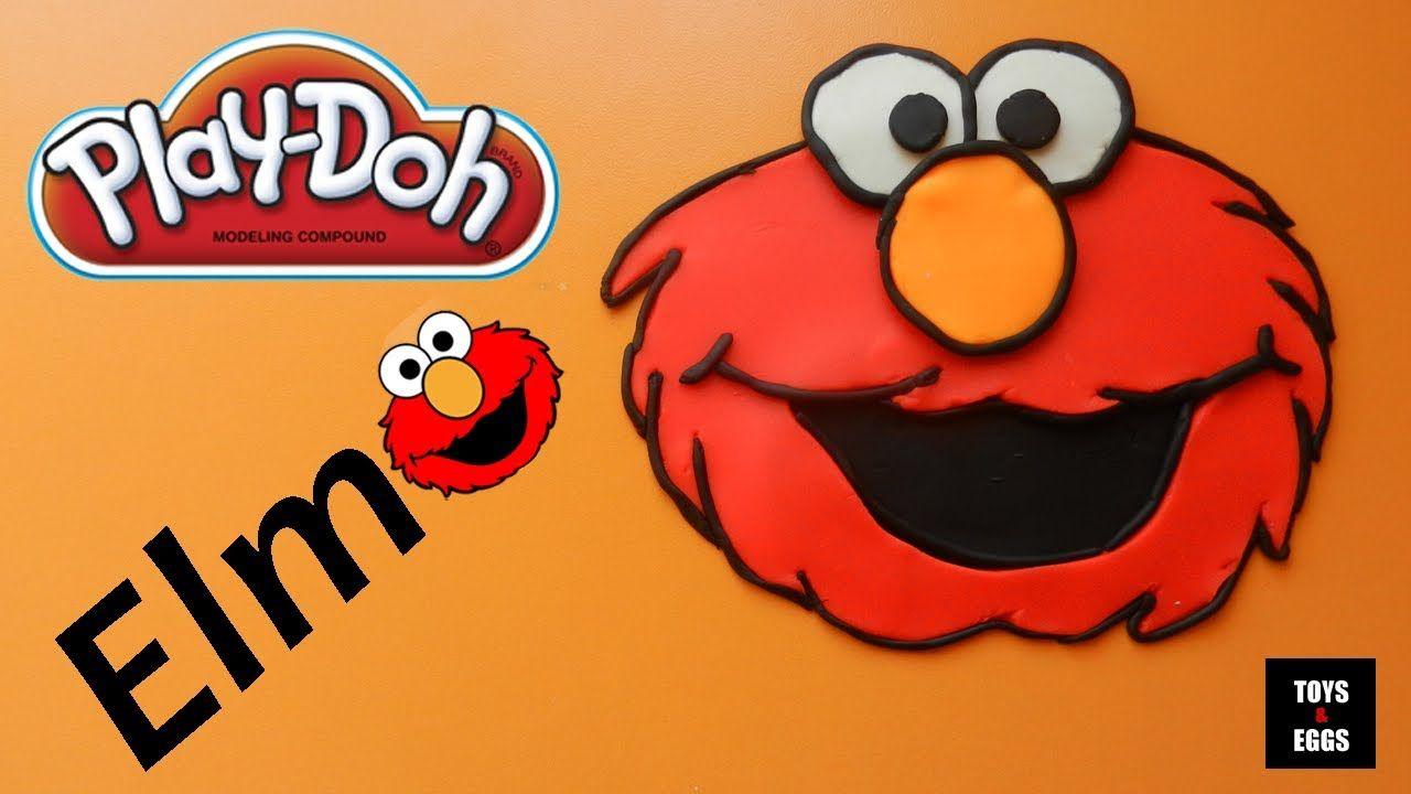 Play Doh ELMO! How to make an Elmo with playdough easy!