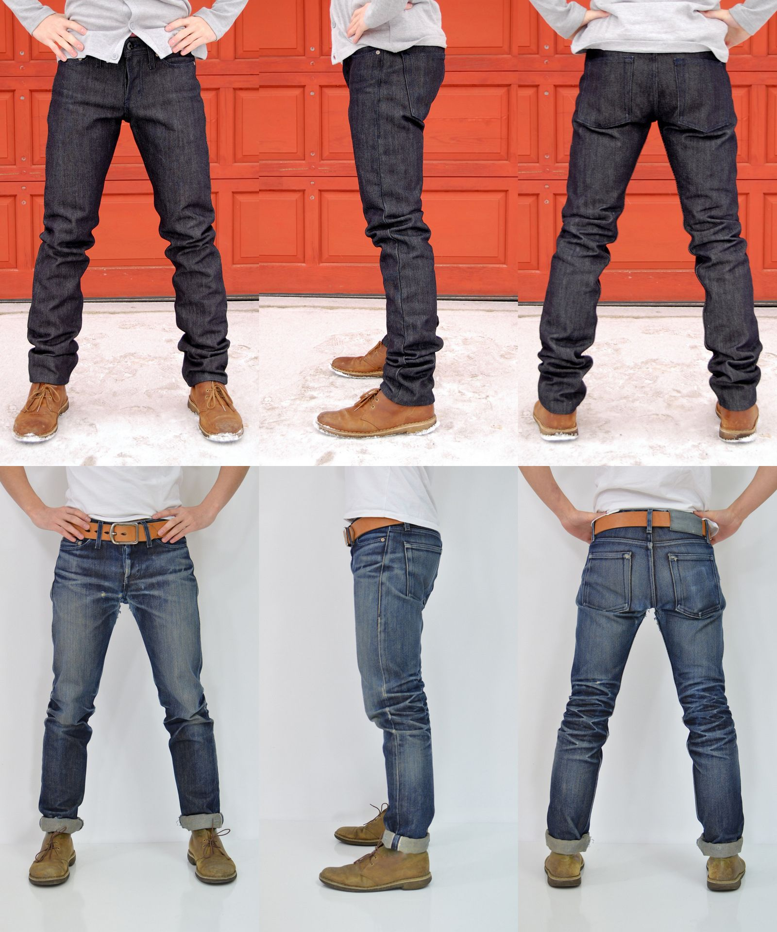 0394427083 Cool before and after to show how raw selvedge denim works.   Denim ...